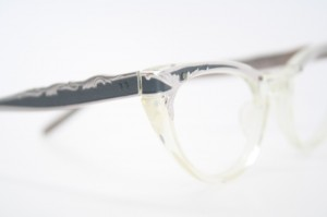 clear cat eyeglasses