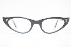 Blue cat eye glasses