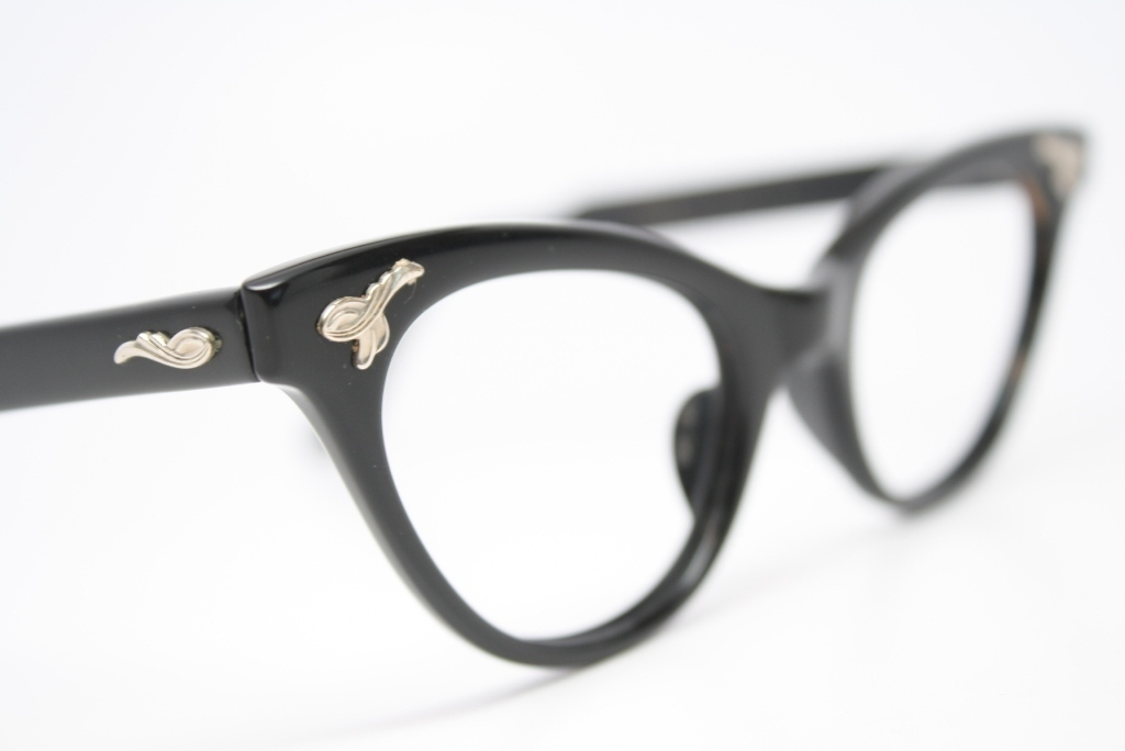 vintage black cat eye glasses
