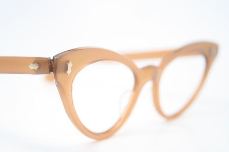peach cat eye glasses