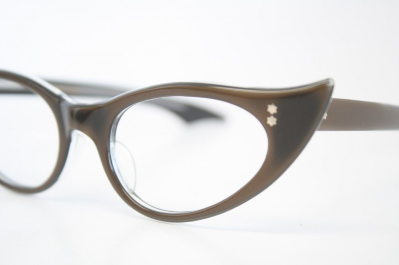 brown cat eye glasses vintage