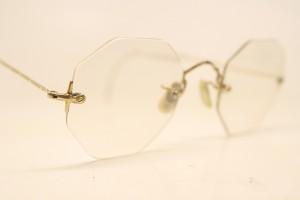vintage rimless eyeglasses