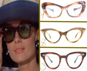 Audrey Hepburn cat eye glasses