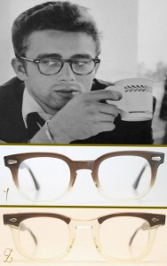 James Dean vintage eyeglasses